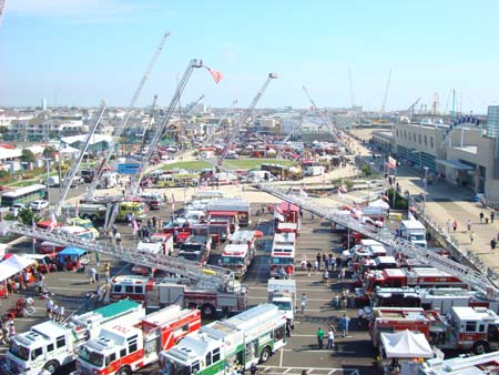 Aerial photo from last year's Expo display area.